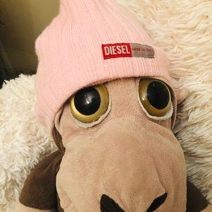 Diesel Beanie Hat in Pink